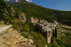 Le monastère de Saint Paul, le mont Athos image libre de droits