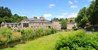 Le monastère de Samos en Galicie Photo stock