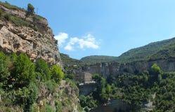 Le monastère de Sant Miquel del Fai Photos libres de droits