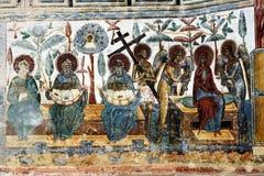 Le monastère de Voronet, Bucovina, Roumanie Photos libres de droits