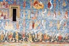 Le monastère de Voronet, Bucovina, Roumanie Photographie stock libre de droits