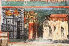 Le monastère de Voronet, Bucovina, Roumanie Image stock