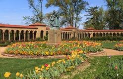 Le monastère franciscain de paysage fond Washington  Images stock
