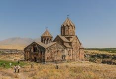 Le monastère merveilleux de Saghmosavan, Arménie image stock