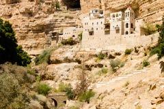 Le monastère orthodoxe grec de St George en Wadi Qelt, Israël photographie stock libre de droits