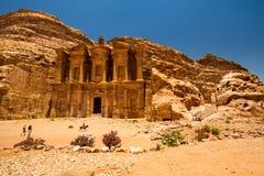 Le monastère, PETRA Image stock