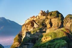 Le monastère saint de grand Meteoron Photos libres de droits