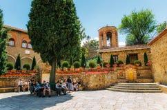 Le monastère saint de grand Meteoron au complexe des monastères de Meteora en Grèce Photographie stock