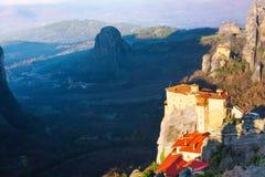 Le monastère saint de Rousanou, Grèce Image libre de droits