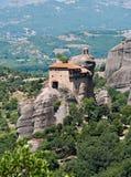 Le monastère saint de St Nicholas Anapausas, Meteora, Grèce Images libres de droits