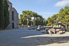 Le monastère sur les filerimos (ruines) Photos libres de droits