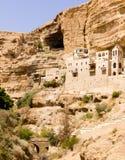 Le monastère orthodoxe grec de St George en Wadi Qelt Images libres de droits