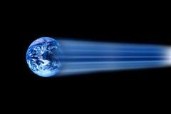 Le monde déménage rapidement? 6 Photo stock