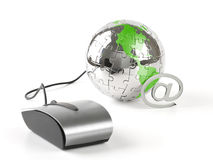 Le monde dans un cliquetis - télécommunications mondiales Photographie stock libre de droits