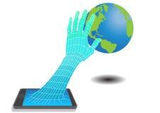 Le monde de réseau Internet se relient illustration stock