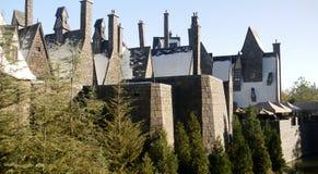 Le monde de Wizarding du château de Harry Potter Images libres de droits