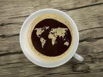Le monde du café Photos stock