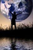 Le monde est le mien Photo stock