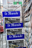 Le Monde front cover of French newspaper Royalty Free Stock Photo
