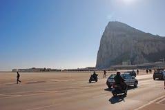 Le monde la plupart de piste intéressante d'aéroport au Gibraltar la roche image libre de droits