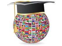 Le monde marque la graduation Image stock