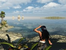Le monde neuf Photographie stock libre de droits
