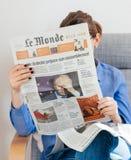 Le Monde newspaper about Vladimir Putin russian president Stock Photography