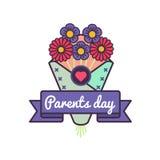Le monde Parents l'emblème de salutation de jour Photo libre de droits