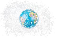 Le monde se brise dans des pièces Illustration Stock