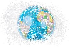 Le monde se brise dans des pièces Illustration Libre de Droits