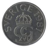 le monete da 5 corone svedesi Fotografia Stock Libera da Diritti