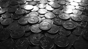 Le monete della baht tailandese Immagini Stock Libere da Diritti
