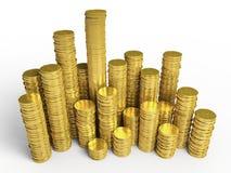 Le monete dorate Fotografia Stock Libera da Diritti