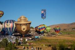 Le mongolfiere tolgono a Reno, Nevada Fotografie Stock Libere da Diritti