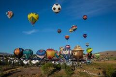 Le mongolfiere tolgono a Reno, Nevada Fotografia Stock