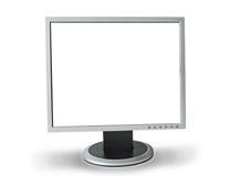 Le moniteur carré de l'ordinateur sur un fond blanc images libres de droits