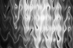Le monochrome abstrait ondule sur le fond noir Photo libre de droits
