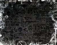 Le monochrome créatif synchronise le fond industriel d'obscurité de cadre Photo stock