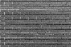 Le monochrome ou lui est noir un mur de briques blanc, fond, série de texture Image stock