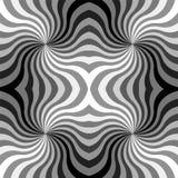 Le monochrome sans couture courbe le modèle Fond abstrait géométrique Illustration Libre de Droits