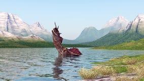 Le monstre de Loch Ness Illustration de Vecteur