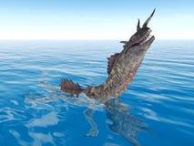 Le monstre de Loch Ness Images libres de droits