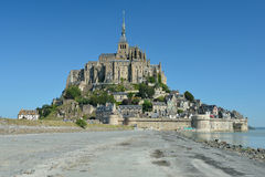 le Mont圣徒米谢尔,诺曼底,法国 免版税图库摄影