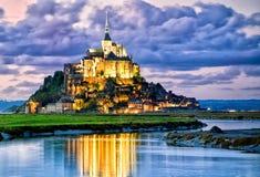 LE Mont Άγιος Michele, Γαλλία Στοκ Φωτογραφία