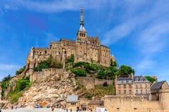 Le Mont Святой Мишель, Бретань, Франция Стоковое Изображение RF
