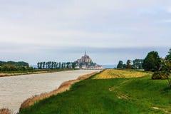 Le Mont Святой Мишель, Бретань, Франция Стоковое фото RF