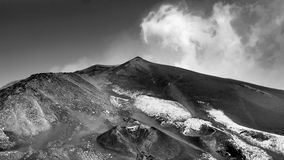 Le mont Etna (B&W) Image libre de droits