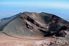 Le mont Etna, Sicile, Italie - volcan dans le temps de paix Photos libres de droits