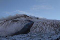 Le mont Etna, Valle del Bové Images libres de droits