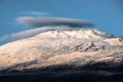 Le mont Etna (volcan) Image libre de droits